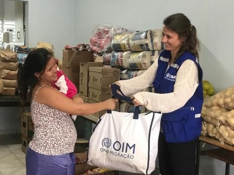 La OIM brinda apoyo a los venezolanos en Brasil