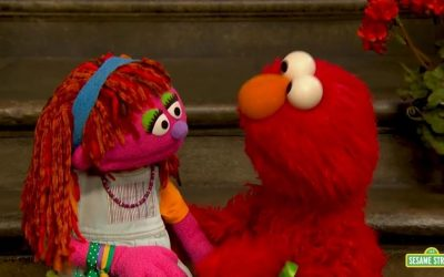 Elmo y otros personajes de 'Plaza Sésamo' acompañan a los niños venezolanos que dejaron su país